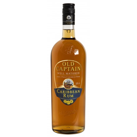 Old Captain Well Matured Caribbean Rum  37.5%VOL 1.0L